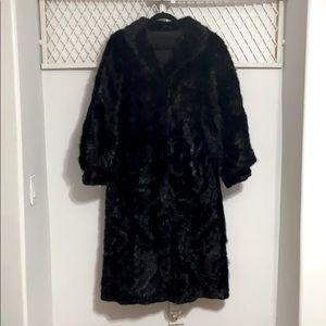 Brown Fur Longline Overcoat